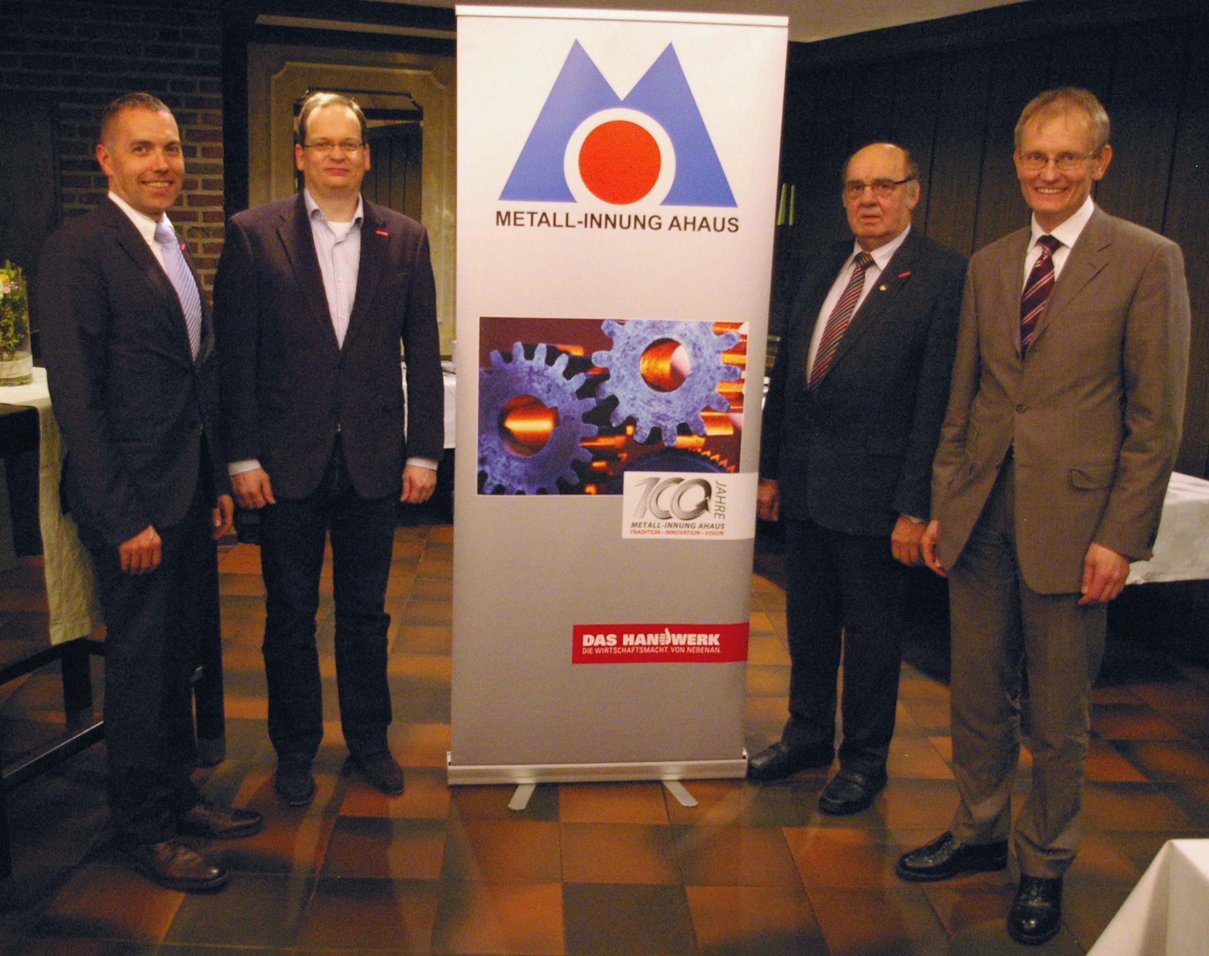 v. l. n. r. Daniel Janning, Thomas Lansing, Alfred Marx, Dr. Hörster